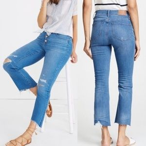 MADEWELL-Button-Front Cali Demi-Boot Jeans